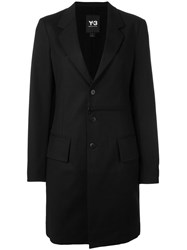 Y 3 Single Breasted Coat Black