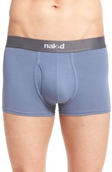 Men's Naked 'Essential' Stretch Cotton Trunks Metro Grey Dusk