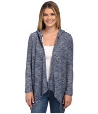 Nydj City Sport French Terry Cocoon Cardigan Knight Blue Women's Sweater