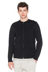 Helmut Lang Collarless Bomber Black