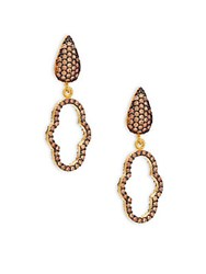Azaara 22K Yellow Gold Dipped Cutout Drop Earrings No Color