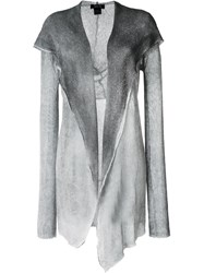 Avant Toi Hooded Draped Cardigan Grey
