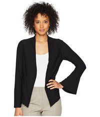 Adrianna Papell Crepe Knit Jacket Black Coat