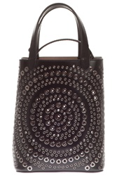 Azzedine Alaia Bucket Circle Stud Bag Black