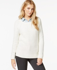 Maison Jules Cable Knit Raglan Sweater Only At Macy's Egret