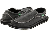 Sanuk Chiba Black Men's Slip On Shoes