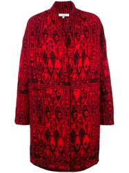 Iro Oversized Coat Red