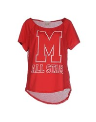 Converse All Star Topwear T Shirts Women Red