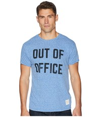 The Original Retro Brand Out Of Office Vintage Tri Blend Tee Streaky Royal T Shirt Blue