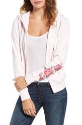 Juicy Couture Women's Roberts Embroidered Velour Hoodie Peek A Boo