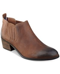 Tommy Hilfiger Ripley Ankle Booties Women's Shoes Caramel