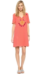 Antik Batik Dove Mini Dress Coral