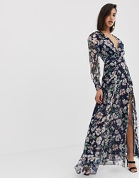 The Jetset Diaries Fleur Long Sleeve Maxi Dress Multi