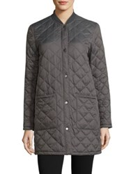 Barbour Summer Quilted Bomber Jacket Grey