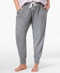 Alfani Plus Size Double Knit Pajama Pants Only At Macy's Grey Heather