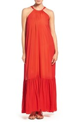 Elan Women's Cover Up Maxi Dress Red