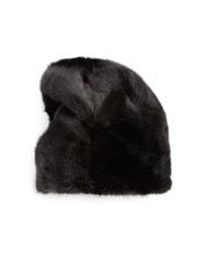 Sherry Cassin Mink Fur Hat Black