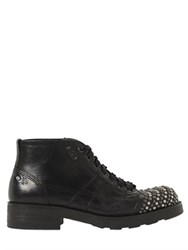 Oxs Studded Toe Leather Ankle Boots