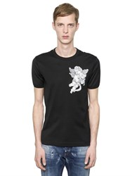 Dolce And Gabbana Angel Patch Cotton Jersey T Shirt
