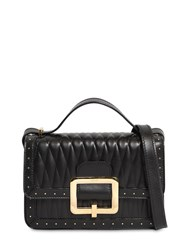 Bally Janelle Quilted Leather Bag W Microstuds Black