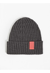 Oamc Grey Ribbed Beanie Hat