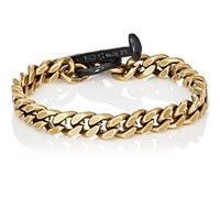 Giles And Brother Flat Curb Chain Bracelet Black