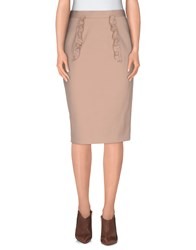 Miu Miu Skirts Knee Length Skirts Women Skin Color