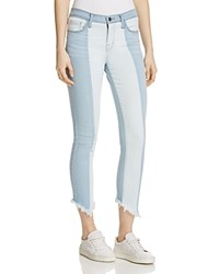 Flying Monkey Contrast Skinny Jeans In Light Wash