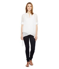 Catherine Malandrino Livy Blouse Empire White Women's Blouse