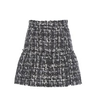 Dolce And Gabbana Mouline Knitted Skirt Grey