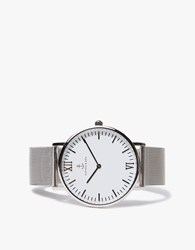 Kapten And Son Campus Silver Mesh Watch Silver White