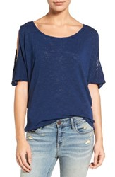 Velvet By Graham And Spencer Women's Cold Shoulder Tee Hudson