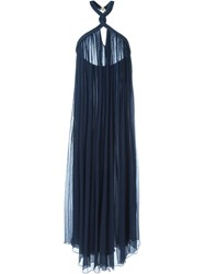 Jay Ahr Rope Detail Halterneck Dress Blue