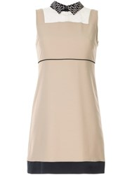 Loveless Sheer Panel Dress Neutrals