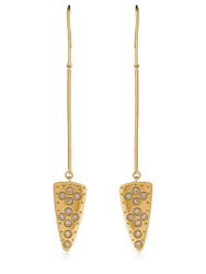 Elizabeth And James Lyra Pendant Earrings Gold