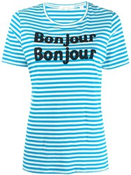 Chinti And Parker Bonjour T Shirt Blue