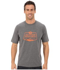 Outdoor Research Bowser Tee Charcoal Heather Men's T Shirt Gray