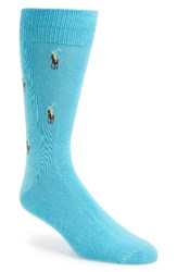 Polo Ralph Lauren Men's Logo Socks Aqua