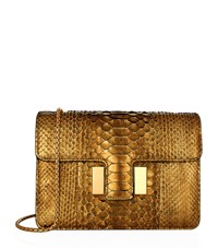 Tom Ford Medium Sienna Python Chain Bag Gold