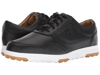 Footjoy Golf Casual Spikeless Street Sneaker All Over Black Smooth Golf Shoes