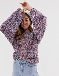 Moon River Speckled Knitted Jumper Multi