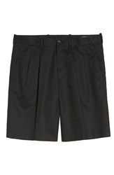Nordstrom Big And Tall Shop Pleated Supima Cotton Shorts Black Caviar