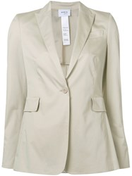 Akris Punto Button Up Blazer Nude Neutrals