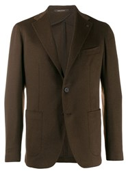 Tagliatore Slim Fit Blazer Brown