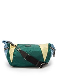 Isabel Marant Nilwey Tricolour Half Moon Bag Green Multi