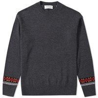 Tomorrowland Merino Jacquard Crew Sweat Grey