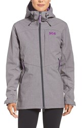Helly Hansen Women's 'Paramount' Water Repellent Softshell Parka Grey Melange
