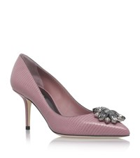 Dolce And Gabbana Bellucci Leather Pumps 75 Female Light Pink