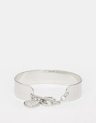 Lipsy Limited Edition Heart Toggle Cuff Bracelet Silver