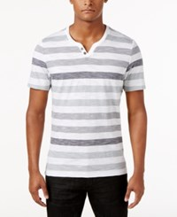 Inc International Concepts Men's Heathered Striped T Shirt Only At Macy's White Pure